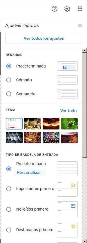 Desaparecer pestaña promociones gmail
